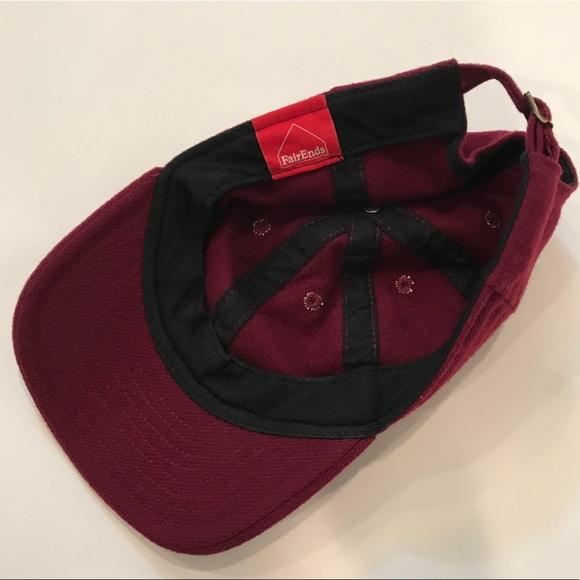 Madewell Accessories - Fairends x Madewell Flannel Baseball Hat Burgundy db1398214fe4
